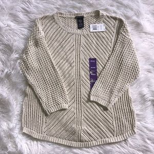 Chelsea & Theodore Knit Sweater NWT
